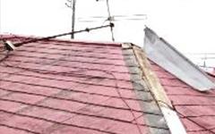 屋根の剥がれ