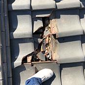 瓦割れ補修